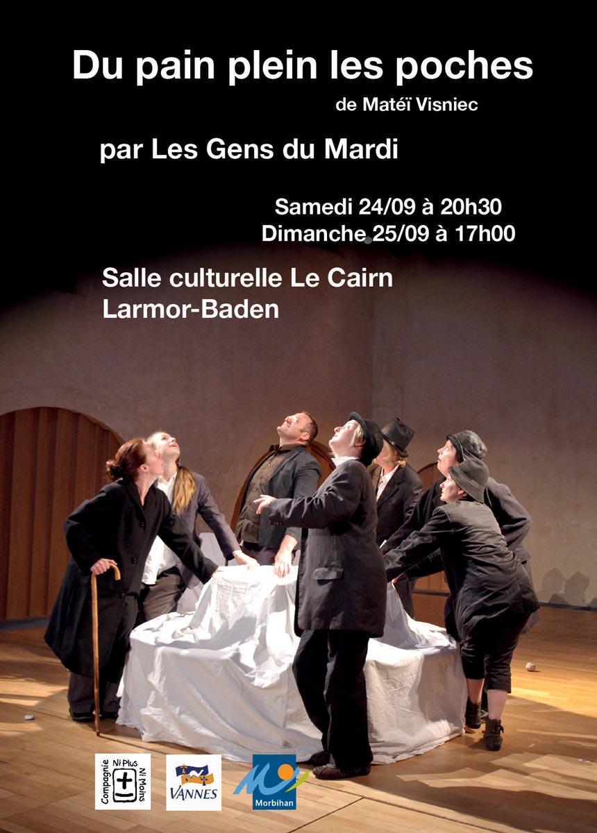 Du pain plein les poches, pièce de théâtre de la Compagnie Ni Plus Ni Moins, ateliers théâtre pour tous (petits, enfants, ados, adultes) à Vannes dans le Morbihan