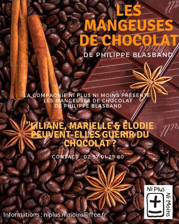 Les Mangeuses de Chocolat, pièce de théâtre de la Compagnie Ni Plus Ni Moins, ateliers théâtre pour tous (petits, enfants, ados, adultes) à Vannes dans le Morbihan